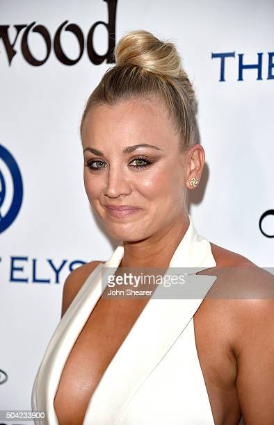 Actress Kaley Cuoco attends The Art of Elysium 2016 HEAVEN Gala presented by Vivienne Westwood Andreas Kronthaler at 3LABS on January 9 2016 in...