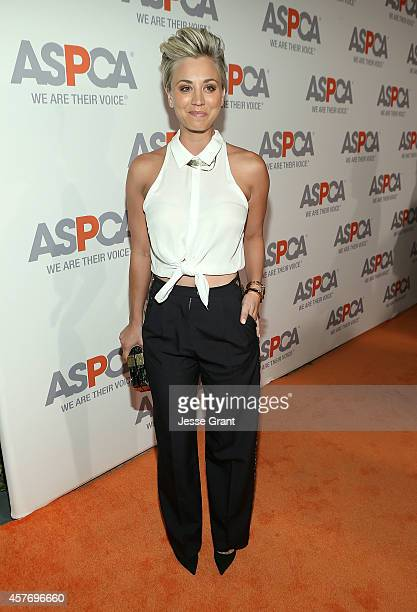 Actress Kaley Cuoco attends The ASPCA Saves Animals in Los Angeles with an Evening of Cocktails Dinner Music and a Silent Auction Honoring Nikki Reed...