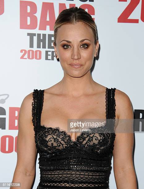 Actress Kaley Cuoco attends 'The Big Bang Theory' 200th episode celebration at Vibiana on February 20 2016 in Los Angeles California