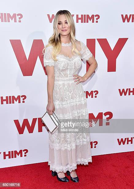 Actress Kaley Cuoco attends the premiere of 20th Century Fox's Why Him at Regency Bruin Theater on December 17 2016 in Westwood California