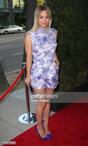 Actress Kaley Cuoco attends the premiere of Blue Jasmine hosted by the AFI Sony Picture Classics at the AMPAS Samuel Goldwyn Theater on July 24 2013...