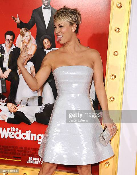 Actress Kaley Cuoco attends the premiere of 'The Wedding Ringer' at TCL Chinese Theatre on January 6 2015 in Hollywood California
