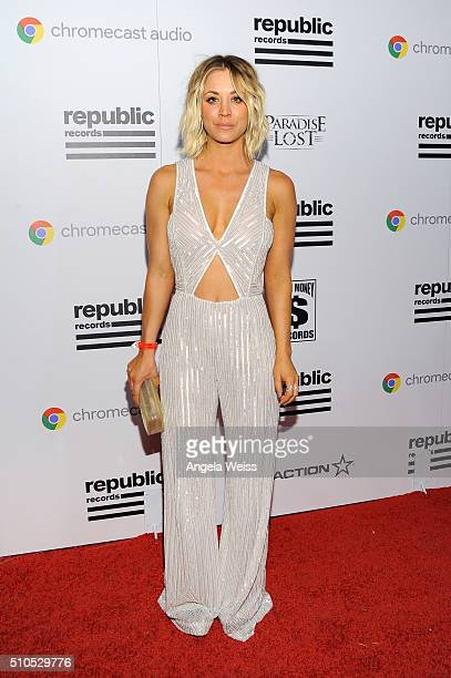Actress Kaley Cuoco attends the Republic Records Grammy Celebration presented by Chromecast Audio at Hyde Sunset Kitchen Cocktail on February 15 2016...