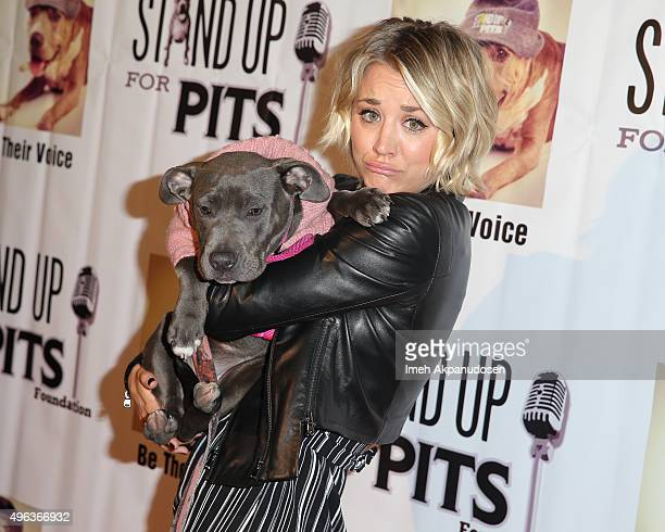 Actress Kaley Cuoco attends the Stand Up For Pits Comedy Benefit at The Improv on November 8 2015 in Hollywood California