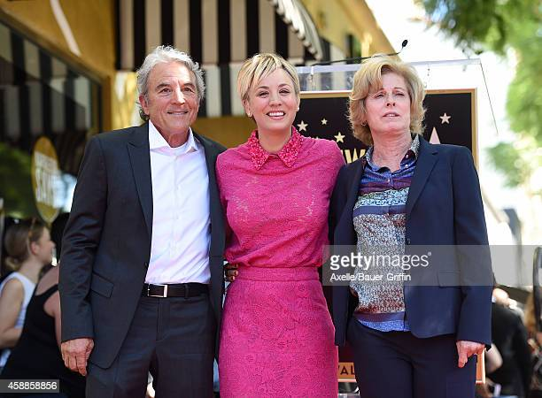 Actress Kaley Cuoco dad Gary Cuoco and mom Layne Wingate attend the ceremony honoring Kaley Cuoco with a star on the Hollywood Walk of Fame on...