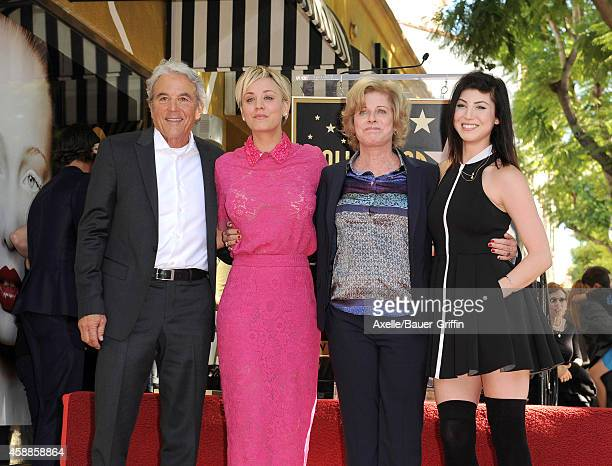 Actress Kaley Cuoco dad Gary Cuoco mom Layne Wingate and sister Briana Cuoco attend the ceremony honoring Kaley Cuoco with a star on the Hollywood...