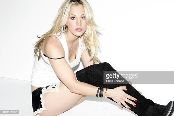 Actress Kaley Cuoco is photographed for Maxim Magazine on January 16 2010 in Los Angeles California PUBLISHED IMAGE
