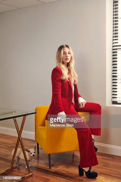 Actress Kaley Cuoco is photographed for the Hollywood Reporter Magazine on October 8, 2020 in Brooklyn, New York. PUBLISHED IMAGE.