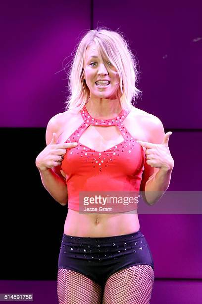 Actress Kaley Cuoco performs onstage during the 24th and final 'A Night at Sardi's' to benefit the Alzheimer's Association at The Beverly Hilton...
