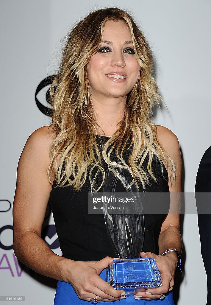 Actress Kaley Cuoco poses in the press room at the 40th annual People's Choice Awards at Nokia Theatre L.A. Live on January 8, 2014 in Los Angeles, California.