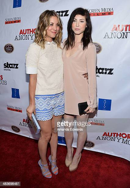Actress Kaley CuocoSweeting and her sister Briana Cuoco arrive at the Los Angeles premiere of Authors Anonymous at The Crest on April 9 2014 in Los...