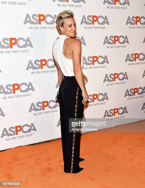 Actress Kaley CuocoSweeting arrives at the ASPCA cocktail party honoring Kaley CuocoSweeting and Nikki Reed with ASPCA Compassion Awards at a private...