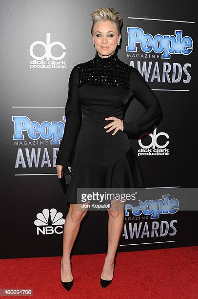 Actress Kaley CuocoSweeting arrives at The PEOPLE Magazine Awards at The Beverly Hilton Hotel on December 18 2014 in Beverly Hills California