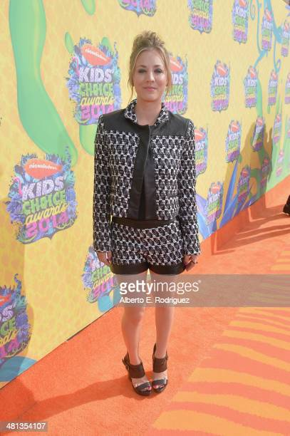Actress Kaley CuocoSweeting attends Nickelodeon's 27th Annual Kids' Choice Awards held at USC Galen Center on March 29 2014 in Los Angeles California