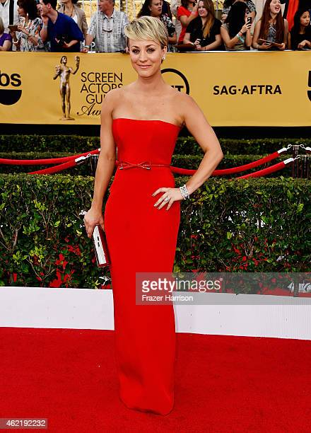 Actress Kaley CuocoSweeting attends the 21st Annual Screen Actors Guild Awards at The Shrine Auditorium on January 25 2015 in Los Angeles California