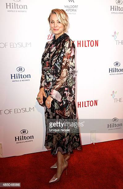 Actress Kaley Cuoco-Sweeting attends The Beverly Hilton celebrates 60 years with a diamond anniversary party at The Beverly Hilton Hotel on August...