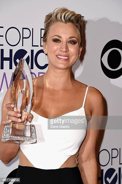 Actress Kaley CuocoSweeting poses in the press room at the 41st Annual People's Choice Awards at Nokia Theatre LA Live on January 7 2015 in Los...