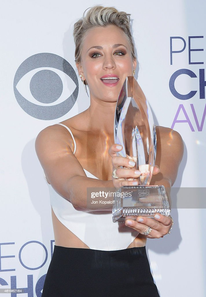 Actress Kaley Cuoco-Sweeting poses in the press room at The 41st Annual People's Choice Awards at Nokia Theatre L.A. Live on January 7, 2015 in Los Angeles, California.