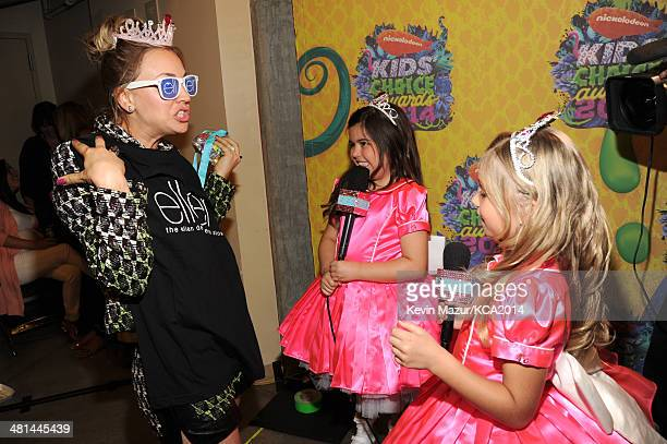Actress Kaley CuocoSweeting TV personality Rosie Grace McClelland and TV personality Sophia Grace Brownlee attend Nickelodeon's 27th Annual Kids'...