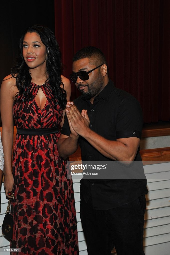 Actress Kali Hawk and actor/recording artist Music Soulchild attend the premiere of 'In the Meantime' at the Woodruff Arts Center on August 14, 2013 in Atlanta, Georgia.