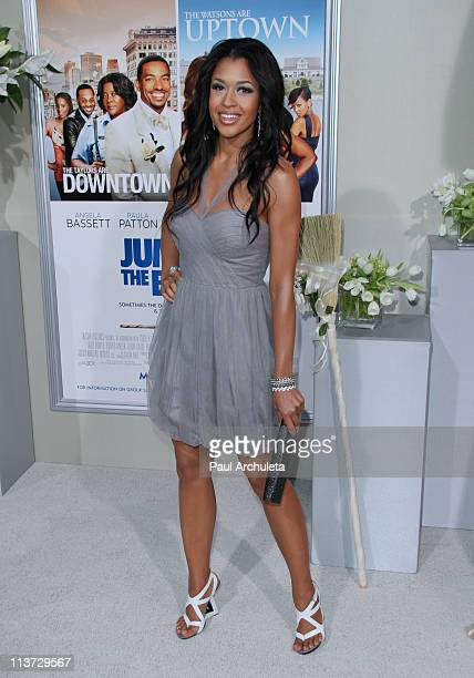 Actress Kali Hawk arrives at the 'Jumping The Broom' Los Angeles premiere at ArcLight Cinemas Cinerama Dome on May 4 2011 in Hollywood California