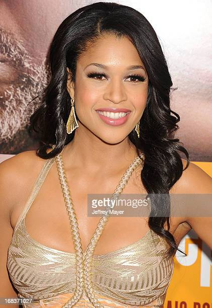 Actress Kali Hawk arrives at the premiere of 'Peeples' presented by Lionsgate Film and Tyler Perry at ArcLight Hollywood on May 8 2013 in Hollywood...