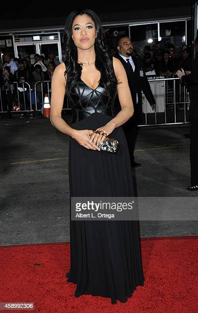 Actress Kali Hawk arrives for the Premiere Of Universal Pictures And Red Granite Pictures' Dumb And Dumber To held at the Regency Village Theater on...