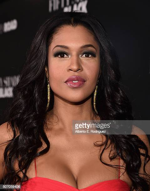 Actress Kali Hawk attends the premiere of Open Road Films' Fifty Shades of Black at Regal Cinemas LA Live on January 26 2016 in Los Angeles California