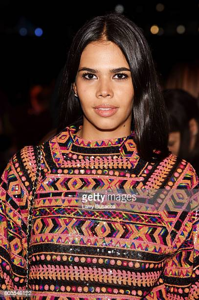 Actress Kali Hawk attends the Vivienne Tam fashion show during New York Fashion Week The Shows at The Arc Skylight at Moynihan Station on September...