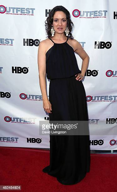 Actress Kali Rocha attends the 2014 Outfest Los Angeles closing night gala of Space Station 76 at the Ford Theatre on July 20 2014 in Hollywood...