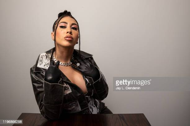 Actress Kali Uchis from 'Blast Beat' is photographed in the LA Times Studio at the Sundance Film Festival on January 26 2020 in Park City Utah...