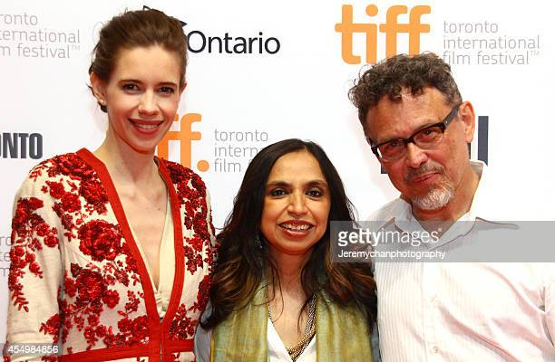 Actress Kalki Koechli director Shonali Bose and actor Jose Rivera attend the Margarita With A Straw premiere during the 2014 Toronto International...