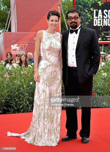 Actress Kalki Koechlin and director Anurag Kashyap attend the 'That Girl In Yellow Boots' premiere at the Palazzo del Cinema during the 67th Venice...