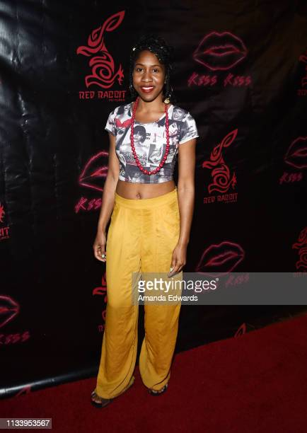 Actress Kandace Caine arrives at the Los Angeles premiere of 'KISS KISS' at the Ahrya Fine Arts Theater by Laemmle on March 05 2019 in Beverly Hills...