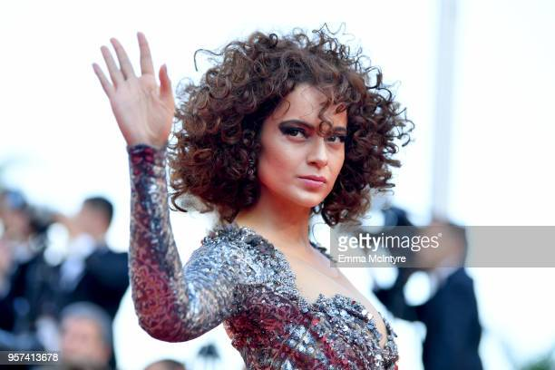 "Actress Kangana Ranaut attends the screening of ""Ash Is The Purest White "" during the 71st annual Cannes Film Festival at Palais des Festivals on May..."