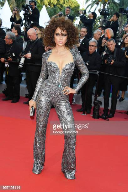 Actress Kangana Ranaut attends the screening of Ash Is The Purest White during the 71st annual Cannes Film Festival at Palais des Festivals on May 11...