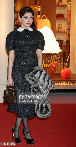 Actress Kanika Kapoor attends Maison Louis Vuitton Roma Etoile Cocktail Red Carpet on January 27 2012 in Rome Italy