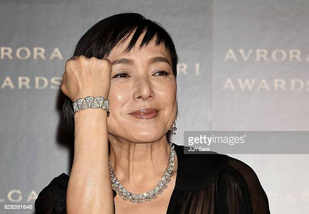 Actress Kaori Momoi attends the Bvlgari Avrora Awards at the Midtown Square on November 29 2016 in Tokyo Japan