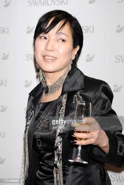 Actress Kaori Momoi attends the press preview of Swarovski Ginza Shop Opening on March 27 2008 in Tokyo Japan