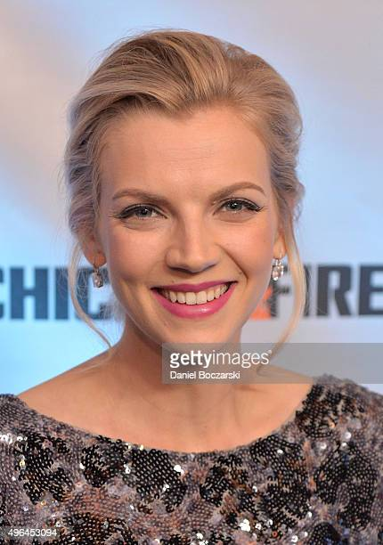 Actress Kara Kilmer attends a premiere party for NBC's 'Chicago Fire', 'Chicago P.D.' and 'Chicago Med' at STK Chicago on November 9, 2015 in...