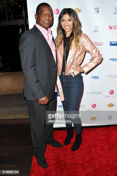 Actress Kara Royster and Jerry Royster attend the NBA AllStar Bowling Classic at Lucky Strike LA Live on February 15 2018 in Los Angeles California