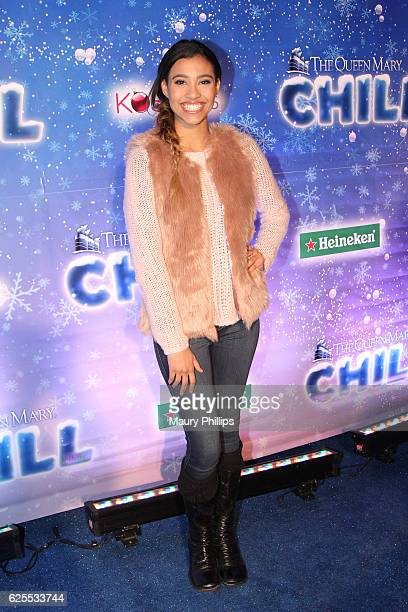Actress Kara Royster arrives at The Queen Mary's CHILL Tree Lighting Ceremony at The Queen Mary on November 23 2016 in Long Beach California