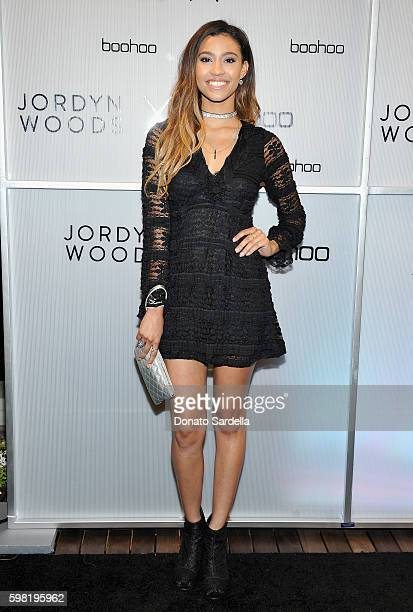 Actress Kara Royster attends Boohoo X Jordyn Woods Launch Event at NeueHouse Hollywood on August 31 2016 in Los Angeles California