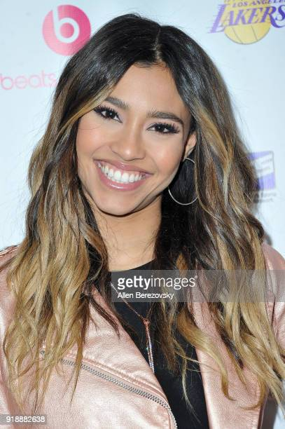 Actress Kara Royster attends the NBA AllStar Bowling Classic at Lucky Strike LA Live on February 15 2018 in Los Angeles California