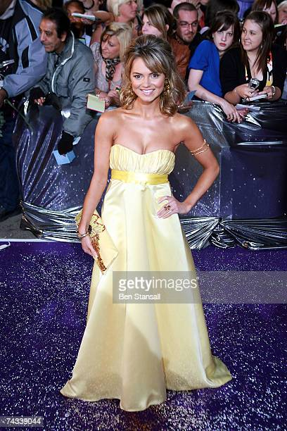 Actress Kara Tointon arrives at the British Soap Awards 2007 at the BBC Television Centre on May 26 2007 in London England