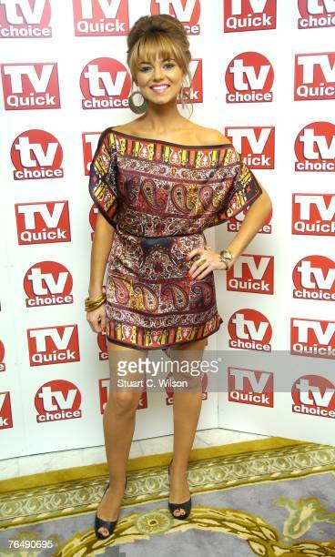 Actress Kara Tointon arrives for the TV Quick TV Choice awards at the Dorchester Hotel on September 03 2007 in London England