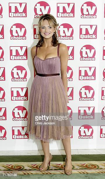 Actress Kara Tointon of Eastenders arrives at the TV Quick and TV Choice Awards at the Dorchester Hotel Park Lane on September 4 2006 in London...