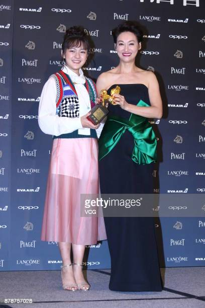 Actress Kara Wai arrives at the red carpet of the 54th Golden Horse Awards Nominee Party on November 24 2017 in Taipei Taiwan of China
