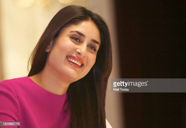 Actress Kareena Kapoor at the promotion of her film Heroine in New Delhi on Tuesday