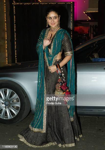 Actress Kareena Kapoor Khan attends the Diwali Bash hosted by Actress Sonam Kapoor on October 27, 2019 in Mumbai, India.